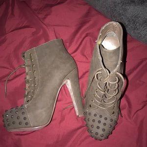 Rockin style heal boots.